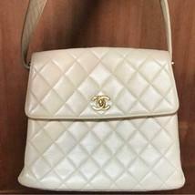 Auth CHANEL Vintage Shoulder Bag Beige Matelasse Flap Logo Inner Pockets B4443 - $993.96