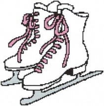 Ice Skates Color Graph Afghan Pattern - $5.00