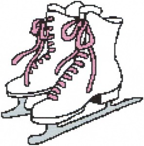 Ice Skates Color Graph Afghan Pattern