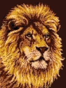 Latch Hook Rug Pattern Chart: LION - EMAIL2u
