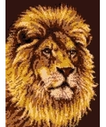 Latch Hook Rug Pattern Chart: LION - EMAIL2u - $5.75
