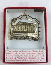 Nations Treasures Winton Place Station Ohio 24K Brass Metal Souvenir Ornament - $30.00