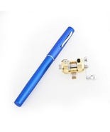 Blue Mini Pocket Portable Aluminum Alloy Telescopic Pen Fishing Rod Pole... - $10.95