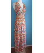 VTG 70s 80s Maxi Dress Coat SZ 14 L Southwest Festival BOHO HIppie Grung... - $27.00
