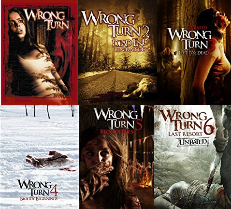 Wrong Turn 1-6 DVD