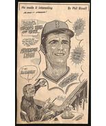 Freddie Lynn Baseball Sports Boston Red Sox Phil Bissell Sketch Newspape... - $10.99