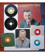 EDDY ARNOLD 7 PC COLLECTION LP + 45'S + PICTURE COWBOY RCA - $49.50