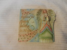 Rejoice in Faith, Believe In Hope 3-Dimensional Angel Resin Wall Plaque - $29.70