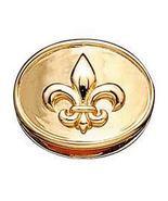 Kranz & Ziegler Fleur de Lis Charm (Button), Gold Plated, New - $80.00