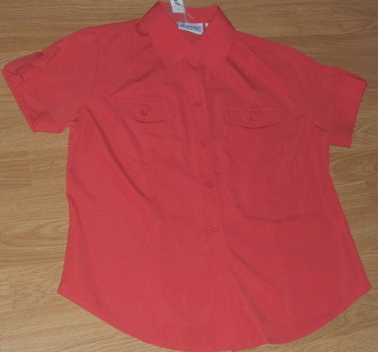 JOANNA BLOUSE SIZE S RED GREEN YELLOW BUTTON FRONT LIGHTWEIGHT NWT