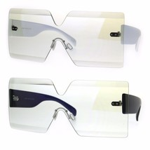 Flat Panel Shield Rectangle Robotic 80s Futurist Disco Funk Glasses - $13.95