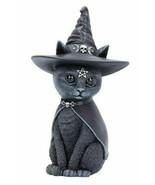 Nemesis Now Purrah Cat Kitten Witch Hat Pentagram Gothic Figurine Statue... - $27.99