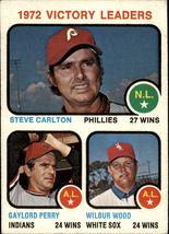 1973 Topps #66 Victory Leaders/Steve Carlton/Gaylord Perry/Wilbur Wood -... - $0.65