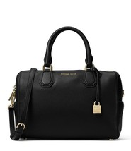 NWT MICHAEL Michael Kors Studio Black Mercer Leather Medium Duffel Satchel Bag - $198.00