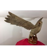 Mid century Black Forest German Eagle wood carved hunting deco design ba... - $360.00