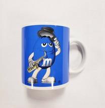 Blue M&M Saxophone Player Candy Chocolate Collectible Ceramic Coffee Mug... - $11.12