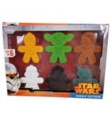 Star Wars Cookie Cutters Darth Vader Yoda Trooper Boba Chewy C3PO Disney... - $29.69