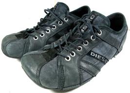 Diesel Rollie Fashion Sneaker Leather Black Women's USA 8 EUR 38.5 Shoes - $29.65