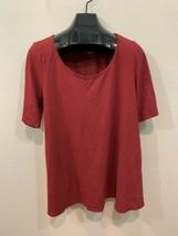Lane Bryant Maroon Scoop Neck Short Sleeve T-Shirt Women's Size 18/20 - $20.63