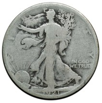 1921 Walking Liberty Half Dollar 90% Silver Coin Lot# A650