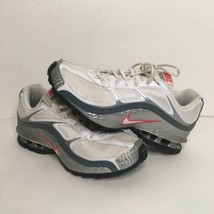 Nike Womens Reax Run 5 407987-116 White Silver Running Shoes Lace Up Size 8 - $40.63