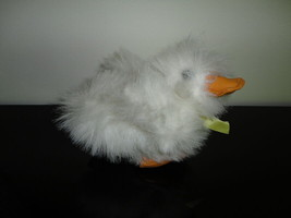 Ganz Heritage 1989 Duck White Shaggy Fur Vinyl Beak & Feet 5 inch - $37.53