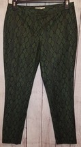 Womens Michael Kors Black & Green Pants Size 8 - $25.99