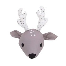 NoJo Taupe & White Deer Plush Head Wall Decor, Taupe, White - $26.71