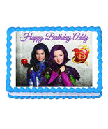 Disney Descendants Mal and Evie party edible cake topper frosting sheet - $7.80