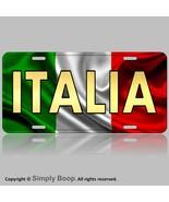 ITALY FLAG METAL LICENSE PLATE TAG ITALIAN ITALIA SIGN ALUMINUM BAKED ON... - $12.82