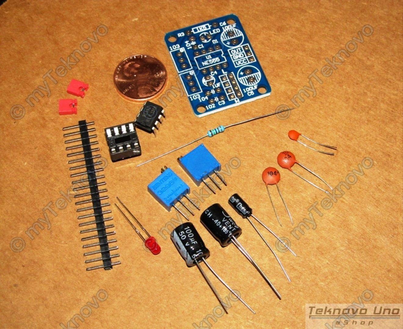 1 pcs x NE555/LM555 Adjustable Square Wave Generator DIY KIT - USA