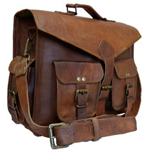 Men's Genuine Vintage Leather Messenger Laptop Women Bag SALE Mac-Book Pro - $69.41
