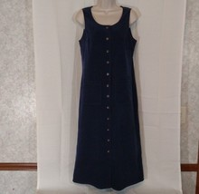 TALBOTS Shirt Dress Jumper Women Size 4P Modest Below Knee Blue Career S... - $29.64