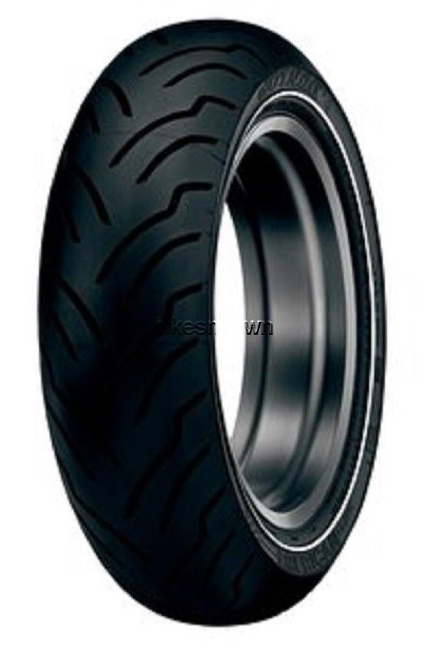 New Dunlop American Elite NW Narrow Whitewall 180/65B-16 Rear Tire