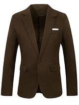 Mens Slim Fit Casual Premium Brown Blazer Cotton Jacket image 1