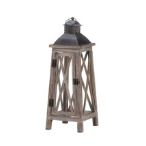 Candle Lanterns Decorative, Antique Rustic Outdoor Tower Wood Candle Lan... - $39.08