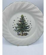 "NIKKO Happy Holidays Dinner Plate - 10-3/4"" Christmas Tree READ CONDITION  - $7.69"