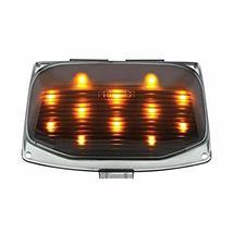 United Pacific 12 LED Harley Front Fender Tip Light - Amber LED/Smoke Lens - $26.61