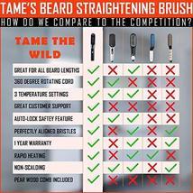 Tame's Easy Glide Beard Straightener - Fast Anti-Scald Beard Straightening Comb  image 2