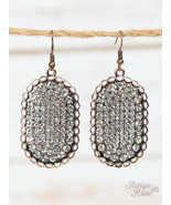 Sparkling Clear Crystal Oval Earrings - $13.86