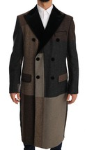 DOLCE & GABBANA Brown Wool Double Breasted Jacket Coat - $1,085.00