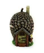 Fairy Garden Pinecone House, Solar Powered Tree House, Woodland Gnome House - $32.99
