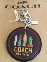Coach %Authentic Leather New York  Leash Clip Key Chain Bag Charm F32687 - $32.99