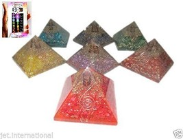 Jet Exquisite A+ 7 Chakra Orgone Pyramids Free Booklet Jet International... - $142.49