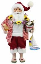 "16"" Inch Standing Tropical Santa Claus Christmas Figurine Figure Decorat... - $43.88"