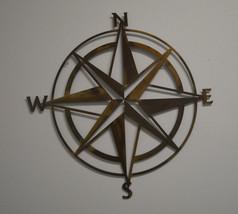 "20"" 14GA Steel Nautical Compass Rose Wall Indoor And Outdoor Art Decor - $34.99+"