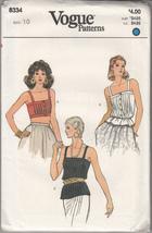 Misses Tank Camisole Size 10 Vogue 8334 - $6.60