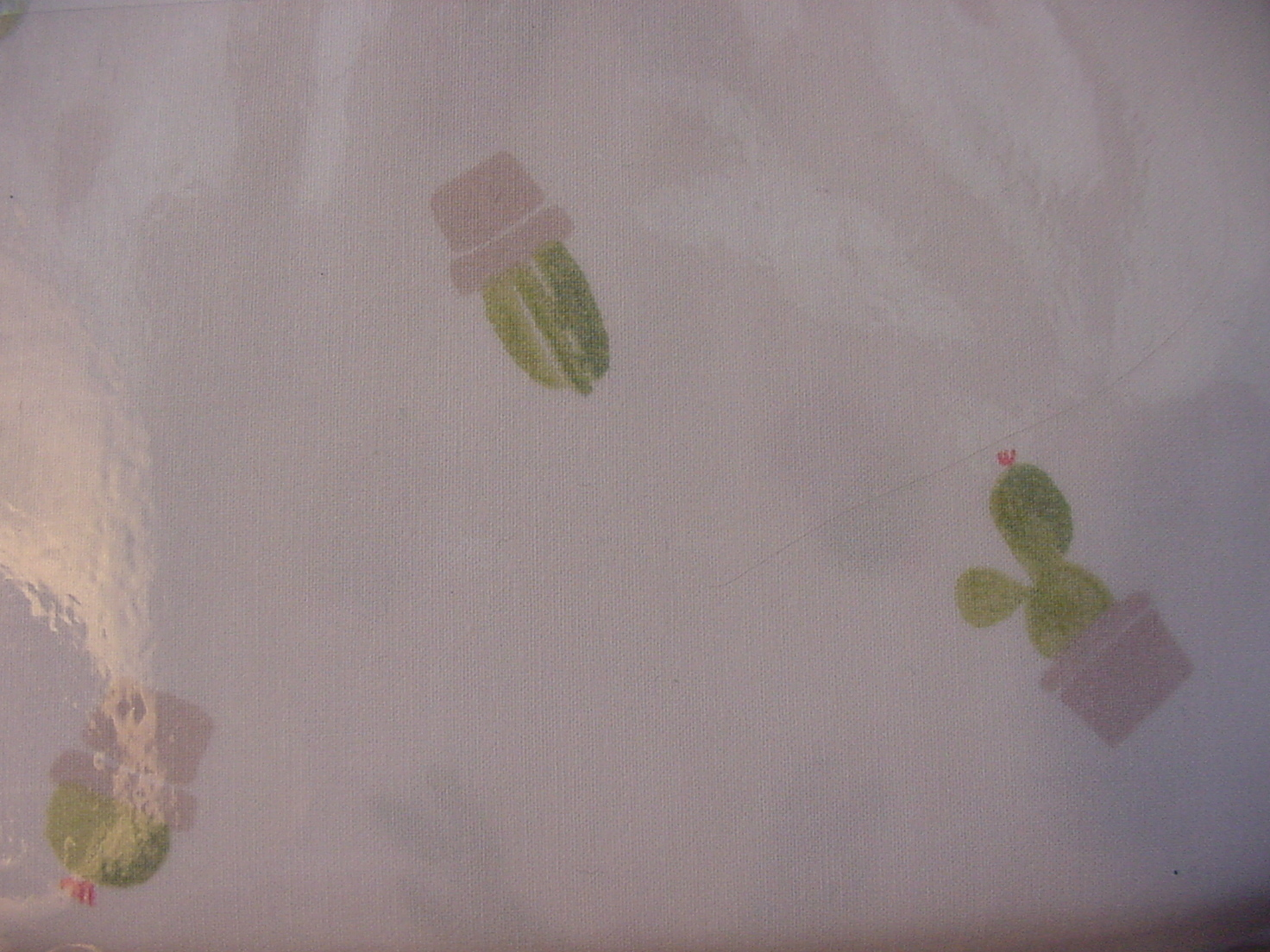 Ralph Lauren Cactus in Beige Pots on White Pillowcases King