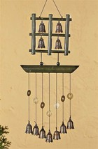 "22"" Zen Japanese Style Bell  Windchime Metal & Wood NEW"