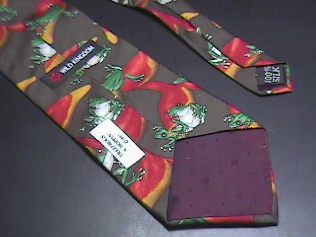 Wild Kingdom Neck Tie Treefrogs A Hoppin' Silk